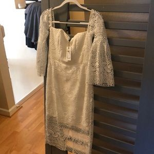 Bardot white dress lace with tags brand new